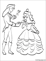 prince adam belle coloring coloring pages