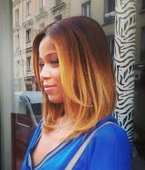 relaxed short bob hairstyle 5 cute ombre full head bob haircut for black women