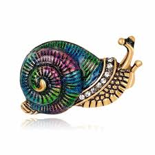 low price classic snail alloy brooch pins children birthday gift