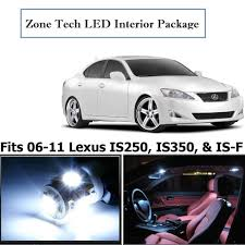 white lexus is 250 red interior amazon com classy autos lexus is250 is350 is f white interior led