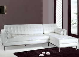 Tufted Sectional Sofa Chaise by White Leather Sofa Sectionals Centerfieldbar Com