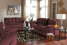 decor wonderful purple fabric sofa ashley furniture oakland with