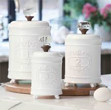 White Kitchen Canister White Ceramic Canister Set In The Kitchen Choosing The Best
