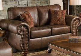 Leather Like Sofa Smokey Leather Like Microfiber Classic Sofa Loveseat Set