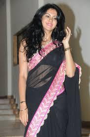 kamna jetmalani in transparent black saree sarees