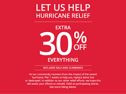 pier 1 thanksgiving sale hurricane relief pier 1 imports