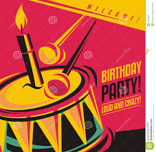 Birthday Party Cards Invitations Birthday Party Invitation Template Stock Vector Image 44262224