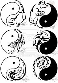 zodiac tribal sagittarius yin yang tattoo design