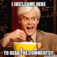 Popcorn Meme - came to read the comments bill hader popcorn