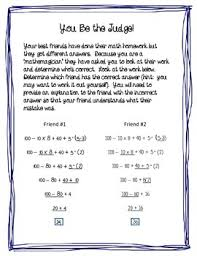 Order Of Operations Worksheet Answers Order Of Operations Error Analysis Freebie By Middle Math