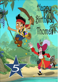 jake and the neverland birthday personalised jake the neverland birthday card