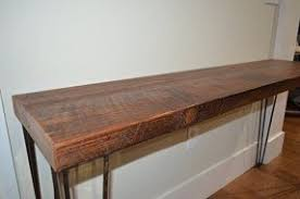 Hairpin Leg Console Table Reclaimed Wood Console Table Visualizeus