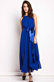 evening maxi dresses slit halter evening maxi dress oasap