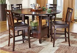 5 Chair Dining Set Landon Chocolate Brown 5 Pc Counter Height Dining Set Casual