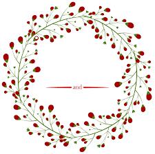 christmas half wreath clipart collection