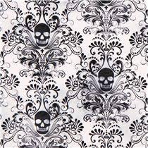 white skull ornament fabric timeless treasures usa
