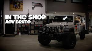 brute jeep interior in the shop