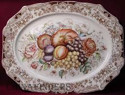 a vintage johnson brothers ware 20 platter in the harvest