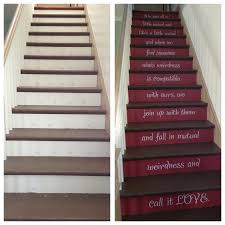 Stairs Quotes by Before After Stair Risers Painted With One Of My Favorite Dr