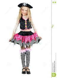 girls halloween pirate costume little wearing a pirate carnival costume of halloween stock