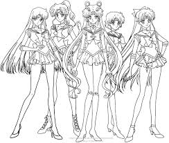 sailor moon crystal group coloring pages