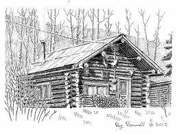 log cabin drawings log cabin drawing imgarcade arcade house plans 89270
