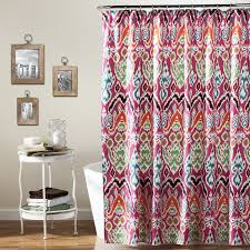 amazon com lush decor jaipur ikat shower curtain 72 x 72