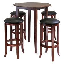 5 Piece Pub Table Set Winsome Fiona 5 Piece Round Pub High Table Set Hayneedle
