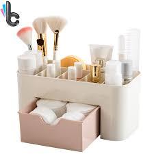rangements de bureau en plastique cosmétique boîte de rangement avec tiroir maquillage