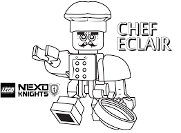 chef coloring page printable sheet lego nexo knights
