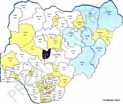 Map Of States With Capitals by New Map Of Nigeria As Proposed By National Conference Ngconfab