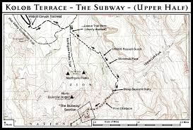 Robbers Cave State Park Map The Subway Zion National Park