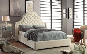 Hampton Bed Madison Bed Queen Size Beige Buy Online At Best Price Sohomod