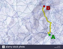 distance between two points map symbolic representation of the distance between two points on a