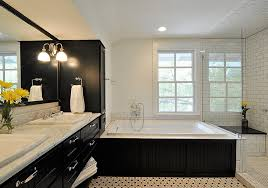 black and white bathroom accent color in great bathroom colors