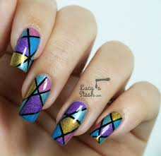 abstract holo nail art design with tutorial lucy u0027s stash