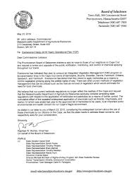 letters from selectmen pocca
