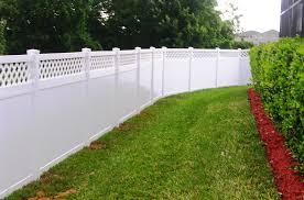 white vinyl fence tan loversiq