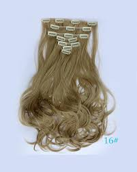 clip hair synthetic clip in hair extensions