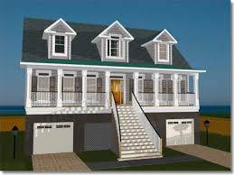 coastal house plans on pilings best raised home designs photos interior design ideas