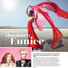 double page spread in scottish woman ab fab the movie out now