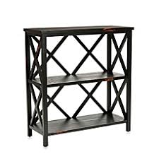 Small Two Shelf Bookcase Wood Metal Bookcases White U0026 Black Bookcases Bed Bath U0026 Beyond