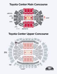 Red Rocks Seat Map Concessions Houston Toyota Center