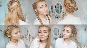 4 cute braid back to hairstyles youtube