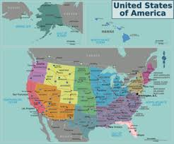 map of usa with compass wikivoyage regions map expedition travel guide at wikivoyage
