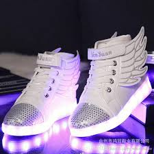 light up shoes for girls kid boy led light up sneaker athletic wings shoe high student