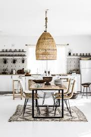 loving the black white and rattan look of this vintage modern