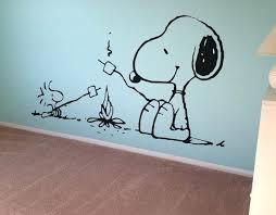 Snoopy Nursery Decor Vinyl Wall For Snoopy Murals On Walls Snoopy Peanuts Wall