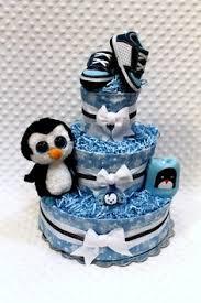 Penguin Baby Shower Decorations Penguin Diaper Cake Gina D U0027s Baby Shower Pinterest Penguins