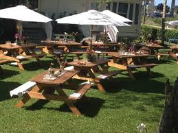 table rentals miami pro line rustic wood picnic tables rentals more event rentals